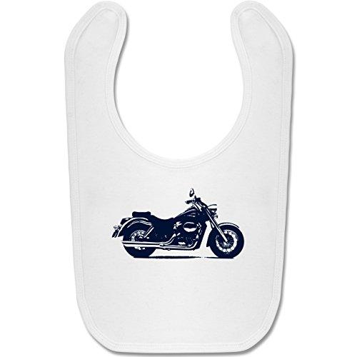 Shirtracer Fahrzeuge Baby - Motorrad - Unisize - Weiß - lätzchen motorrad - BZ12 - Baby Lätzchen Baumwolle