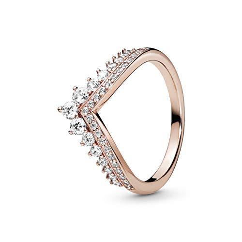 Pandora Damen-Statement-Ringe Silber_vergoldet mit '- Ringgröße 54 187736CZ-54
