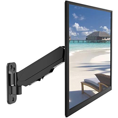 PUTORSEN® Soporte de Pared para Monitor Individual con Brazos de Resorte de Gas - Soporte para Pantallas TV LED LCD 17
