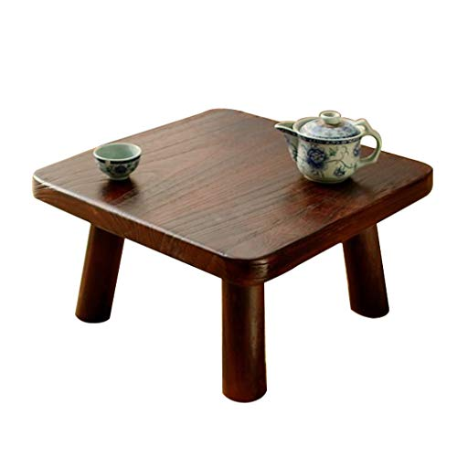 Tische Kaffeetische Wohnzimmer-Couchtisch Holz-Couchtisch Einfacher Tatami Quadratischer Niedriger Dunkelbrauner Buchtfenstertisch Plattformtisch Bett Computertisch Beistelltische