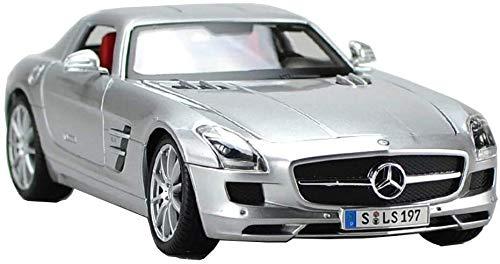 LLZYZJ Auto-Modell 1.18 Simulation Mercedes Benz SLS-Druckguss-Spielzeug Static Model Collection Geschenk Micro Fahrzeug 23,5cm x 11cm x 7cm (Color : Silver)