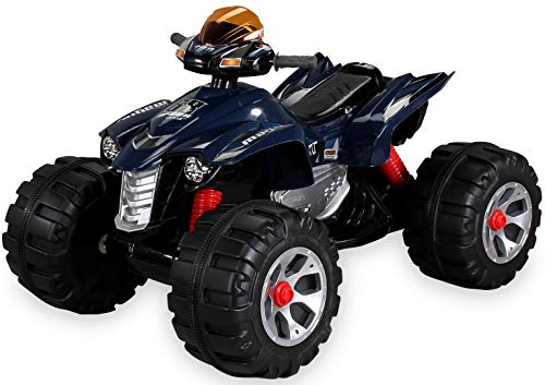 Actionbikes Motors Kinder Elektro Quad Burst 2 x 35 Watt Motor Original Kinder Elektro Auto Kinderauto Kinderfahrzeug (blau)