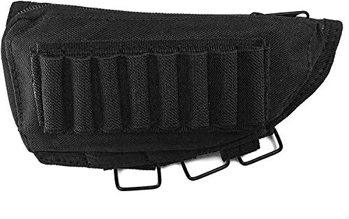 Acme Approved Rifle Buttstock Cheek Rest Ammo Pouch - Black