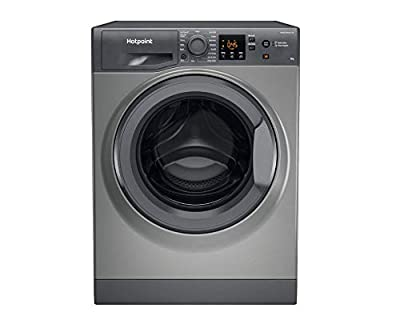 Hotpoint NSWM863CGGUKN 8kg 1600rpm Freestanding Washing Machine With SteamHygiene - Graphite