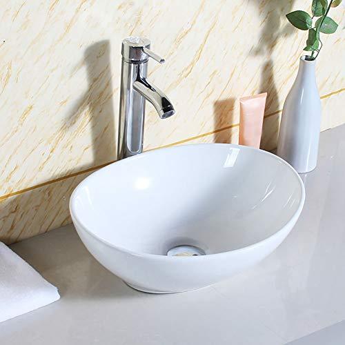 Estink- Badkamers wastafel, aanrecht wastafel badkamer wastafel ovaal ronde kom Top keramische wastafel modern design
