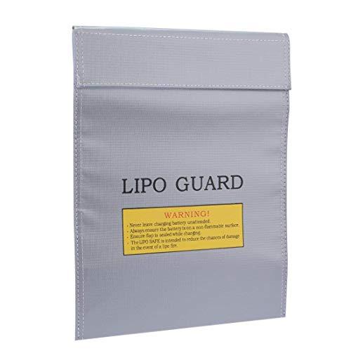 Bolsa de Batería,Bolsa de Protección a Prueba de Fuego para LiPo Documentos de Objetos Pequeños Mantenga las Baterías que Durante la Fase de Recarga Cargue y Transporte con Seguridad Anti Explosión
