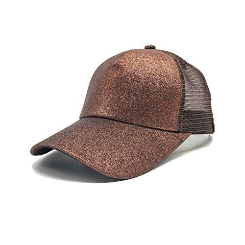 TTD TTD Glither-Pferdeschwanz-Kappen-Ineinander greifen-Fernlastfahrer-Hut der Frauen-justierbarer Hysteresen-Leere Baseballmütze