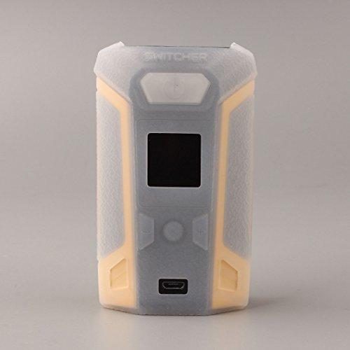 CEOKS for Vaporesso switcher 220W mod case, Protective Silicone case Skin Rubber Cover modshield Sleeve wrap for vaporesso switcher kit 220W mod Box Anti-Slip & Durable (Transparent)