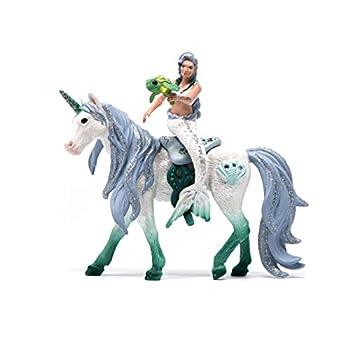 Schleich bayala 3-Piece Playset Mermaid Toys for Girls and Boys 5-12 years old Mermaid Riding on Sea Unicorn