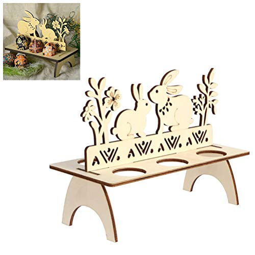 Asamio Ostereierregal DIY Ostereier Holzständer Halter Henne Ostern Home Decor, siehe abbildung, B