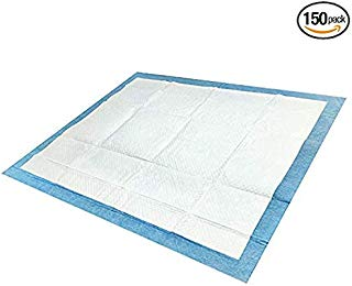 Platinum Care Pads Disposable Underpads Size 23X36 Case of 150 Blue and White Great for Changing Table and Surfaces