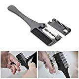 FDGT Hair Razor Comb Blades Inside Cutting Thinning Barbers Hairdressing Tool Salon Shears Professional Portable Haircutting Texturising Haircut for Barber Home Clips