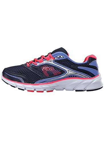 Fila Women's Stir Up Navy/Diva Pink Wedgewood Ankle-High Running Shoe - 8M