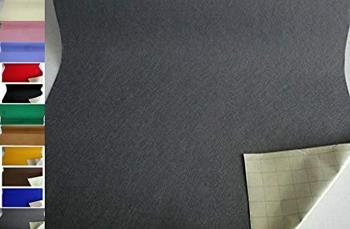 StoffBook EDEL BASTELFILZ FILZSTOFF SELBSTKLEBEND 100CM BREIT Stoff Stoffe, B891 (Grau)