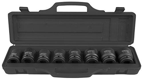 KS Tools 515.0210 515.0210-Juego de Llaves de Vaso hexagonales (3/4', 8 Piezas) Corto, 24-38 mm, Color:, Size