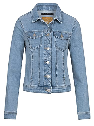 ONLY Female Jeansjacke Kurz Slight Blue Denim