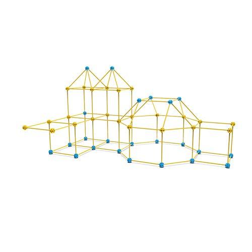 Kit de Construcción de Fuertes, Kit de Construcción de Juguetes Para Niños, Conjunto de Edificios de Castillo de Bricolaje Kit Fuerte Kit Durable Diversión Con Tallo Fácilmente Fácil De Construir