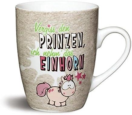 Preisvergleich für Nici 40012 Fancy Mugs Tasse Vergiss den Prinzen, Ich Nehm´Das Einhorn, Porzellan, Pink, 10.5 x 12 x 8.5 cm