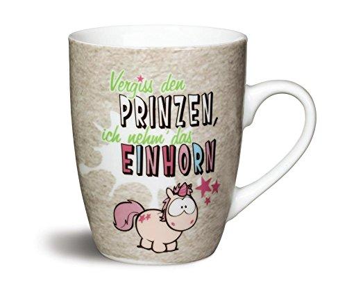 NICI Fancy Mugs Tasse Vergiss den Prinzen, ich nehm´das Einhorn, Porzellan, pink, 10.5 x 12 x 8.5 cm