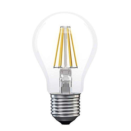 Les emos * Model A + +, ampoule filament A60 A + + Blanc chaud 8 W E27 LED, verre, 8 watts, E27, transparent, 6 x 6 x 11 cm