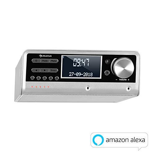 auna Intelligence DAB+/FM Unterbau Küchenradio mit Alexa & Spotify (App-Steuerung, 6-Geräte Multiroom, Bluetooth, Senderspeicher, 5W RMS)