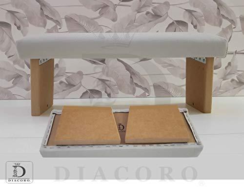 Banco de meditacion Plegable Acolchado Color Perla - Nuevo Modelo Mejorado de año 2020, Taburete de meditacion en Madera de DM Acabado Natural, con Formato de Cierre facil y bisagra Reforzada