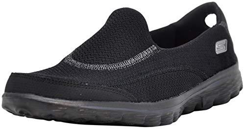 Skechers Performance Women's Go Walk 2 Slip-On Walking Shoe, Black/Silver, 6 M US