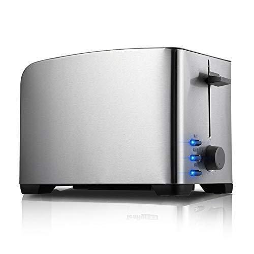 ZW Tostadora de múltiples Funciones Desayuno máquina automática Inoxidable del Acuerdo tostadoras de Pan de Acero Waffles Inicio de Horno 2 Slice Toaster Slot