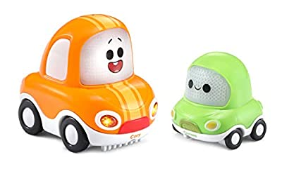 VTech Toot-Toot Drivers Cory Carson Deluxe Combo Cory & Chrissy, Toy Kids Car with Sounds and Phrases, Light Up Baby Music Toy, Car Sets for Boys and Girls Aged 24 Months + from Vtech