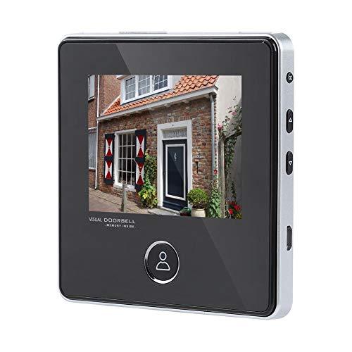 Zerone Door Viewer Mirilla electrónica, timbre digital con mirilla cámara con visión nocturna gran angular de 120 ° con visión nocturna por infrarrojos