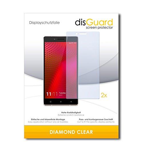disGuard 2 x Displayschutzfolie Allview X2 Xtreme Schutzfolie Folie DiamondClear unsichtbar