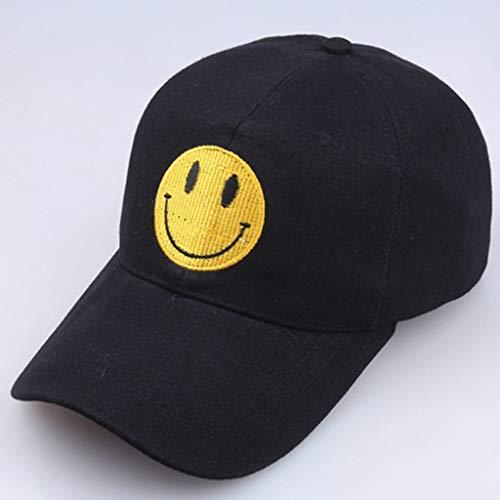 Baseballkappe, Mode Männer und Frauen Sommer gestickte Lächeln Gesicht Baseball-Hut, Hut