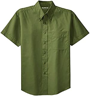Clothe Co. Men's Big & Tall Short Sleeve Wrinkle Resistant Easy Care Button Up Shirt
