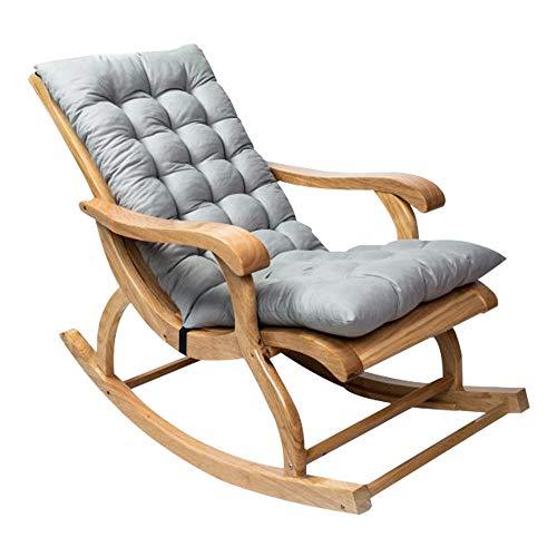 Coussin de Chaise berçante, Coussin de Chaise Longue à Dossier Haut, Coussin Fauteuil Jardin epaissi, Rocking Chair Coussin 3D, Coussin pour Chaise à Bascule, Fauteuil, sièges d'auto (Gris, 1Pcs)