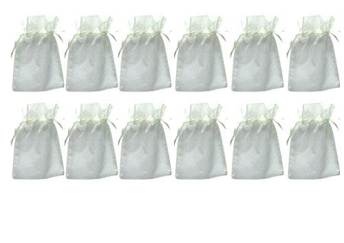 Frühes Forschen 12 Organzasäckchen 15 x 10 cm, crème