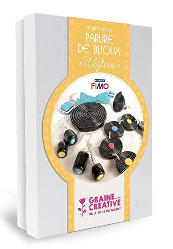 GRAINE CREATIVE 815012 Kit Parure de Bijoux Réglisse, Carton, Noir, 19,5 x 5,2 x 27,5 cm