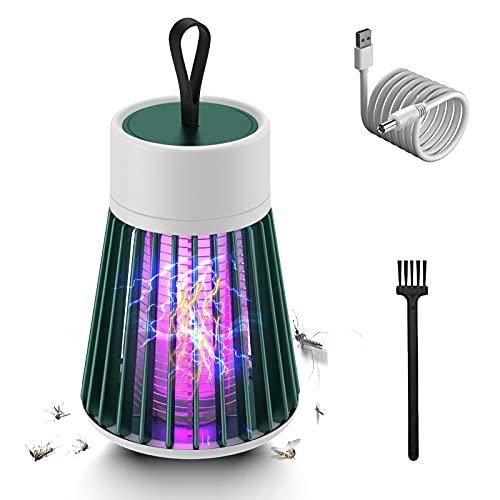 Yolistar Ultra-Silenziosoper Lampada Antizanzare Elettrica (62×90×162mm), 5W UV Zanzariera Elettrica Contro Insetti, 5V Lampada Zanzare Elettrico, Contro Insetti Zanzare per Interno, Esterno (Verde)