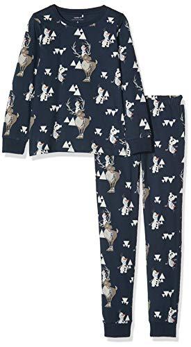 NAME IT Jungen NMMOLAF FINLO Nightwear WDI Zweiteiliger Schlafanzug, Blau (Dark Sapphire Dark Sapphire), (Herstellergröße: 128)