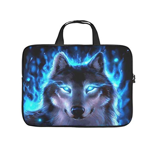 Trippy Space Wolf Animal Laptop Bag Antistatic Laptop Briefcase Fashion Notebook Bag for University Work Business