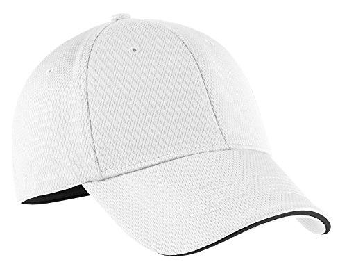 Nike Golf - Dri-FIT Mesh Swoosh Flex Sandwich Cap. 333115 White