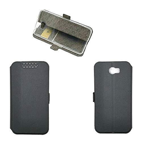 Hülle für Huawei Y6 II Compact Hülle Leder ,Hülle für Huawei Y5 II CUN-L01 / Y5II CUN-L03 CUN-L23 CUN-L33 / Y6II Compact LYO-L21 LYO-L01 / Honor 5 Play Hülle Klapphülle Handytasche Hülle Black