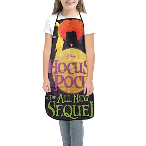 Hoc-Us Poc-Us Kids Tabliers pour enfants pour la cuisine, la pâtisserie, le jardinage, les arts et les travaux manuels pour enfants de 3 à 8 ans - Noir - petit