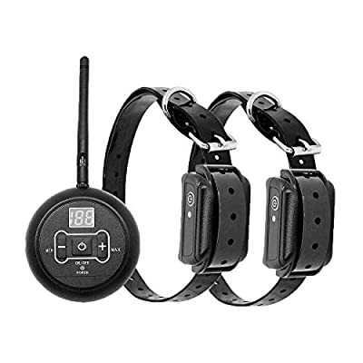 PowMr Wireless Electric Dog Fence for 2 DogsPet Containment System Shock Collars