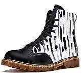TIZORAX Bottes d'hiver pour femmes Brosses de contour Imprime Haut à lacets Classique Toile Chaussures d'école - Multicolore - multicolore, 37 EU