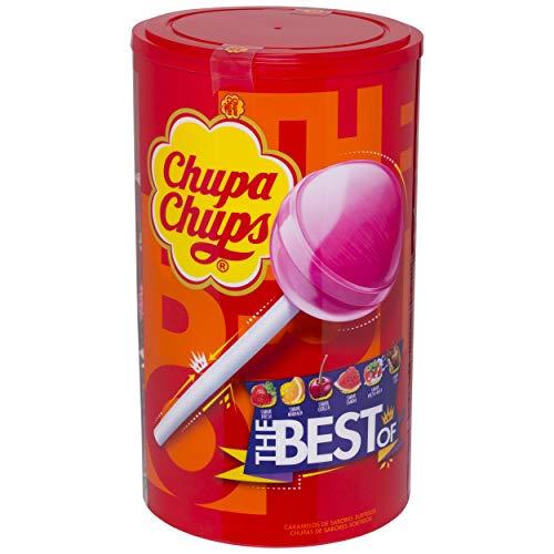 Chupa Chups Original, Caramelo con Palo de Sabores Variados, Tubo Eancode de 100 unidades de 12 gr. (Total 1.200 gr.)