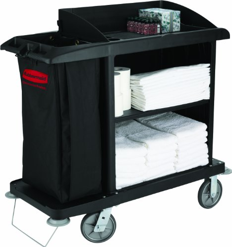 Rubbermaid Commercial Products Housekeeping Service Cart - Black