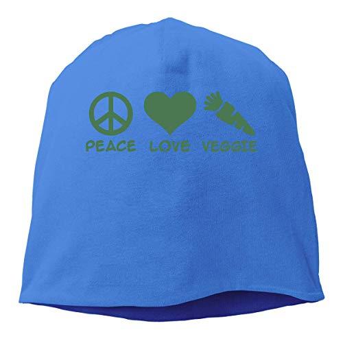 Preisvergleich Produktbild jingqi Unisex Daily Knitted Caps,  Peace Love Veggie Ski Cap for Mens & Womens