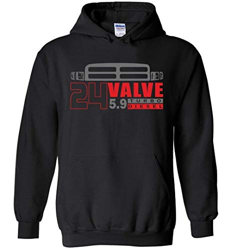 24v Second 2nd Gen 24 Valve Hoodie Sweatshirt Black