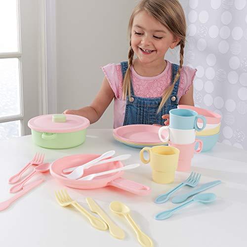 KidKraft 63027 27-teiliges Küchen-Spielset Spielzeug-Geschirrset, Pastellfarben - 2