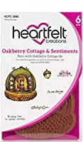 Heartfelt Creations Cling Rubber Stamp Set-Oakberry Cottage & Sentiments .5 To